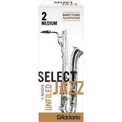 Select Jazz Baritone Saxophone Unfiled Reeds - 2 Medium, 5 Box