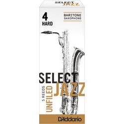 Select Jazz Baritone Saxophone Unfiled Reeds - 4 Hard, 5 Box