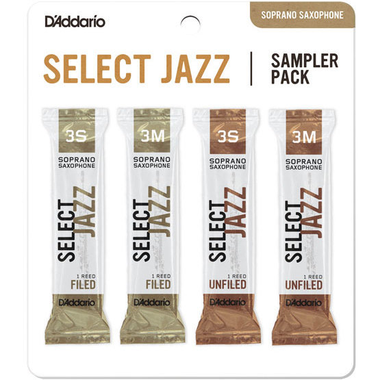 View larger image of Select Jazz Reed Soprano Saxophone Sampler Pack - 3S/3M, 4 Pack