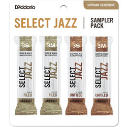 Select Jazz Reed Soprano Saxophone Sampler Pack - 3S/3M, 4 Pack