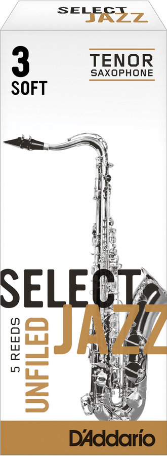 View larger image of D'Addario Select Jazz Tenor Saxophone Unfiled Reeds - 3 Soft, 5 Box