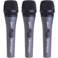 Sennheiser e835-S Dynamic Cardioid Microphone for Speech and Vocals - 3 Pack