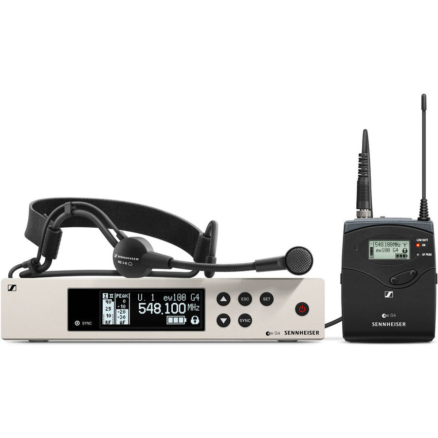View larger image of Sennheiser ew100 G4-ME3 Wireless Headset Microphone System - A1 Band