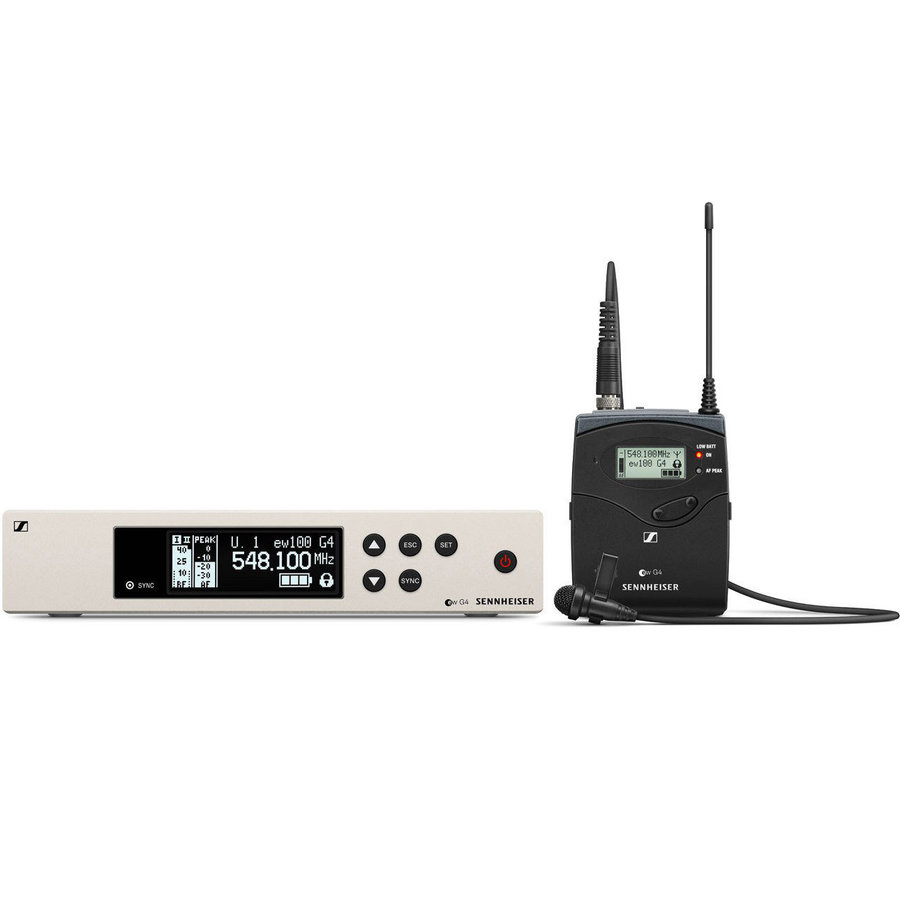 View larger image of Sennheiser ew100 G4-ME4 Wireless Lavalier Microphone System - A Band