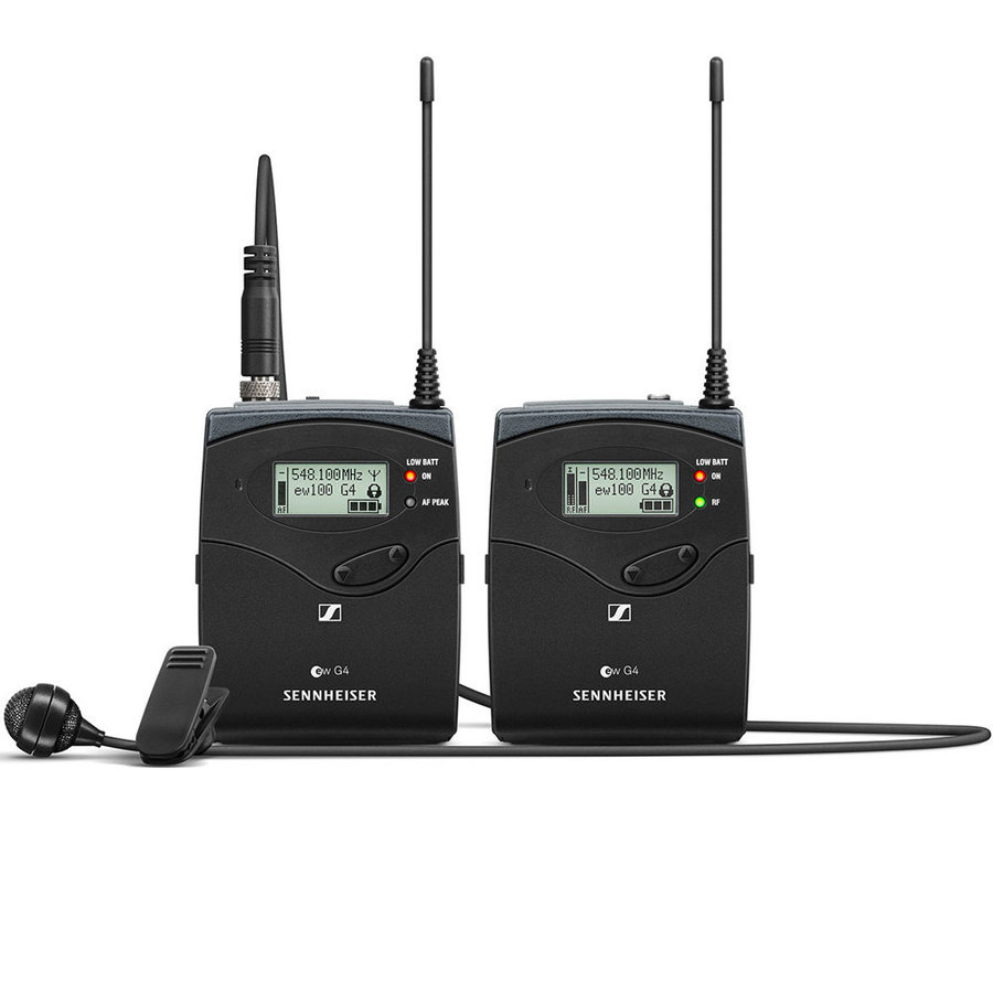 View larger image of Sennheiser ew122P G4 Portable Wireless Lavalier Microphone System - A Band