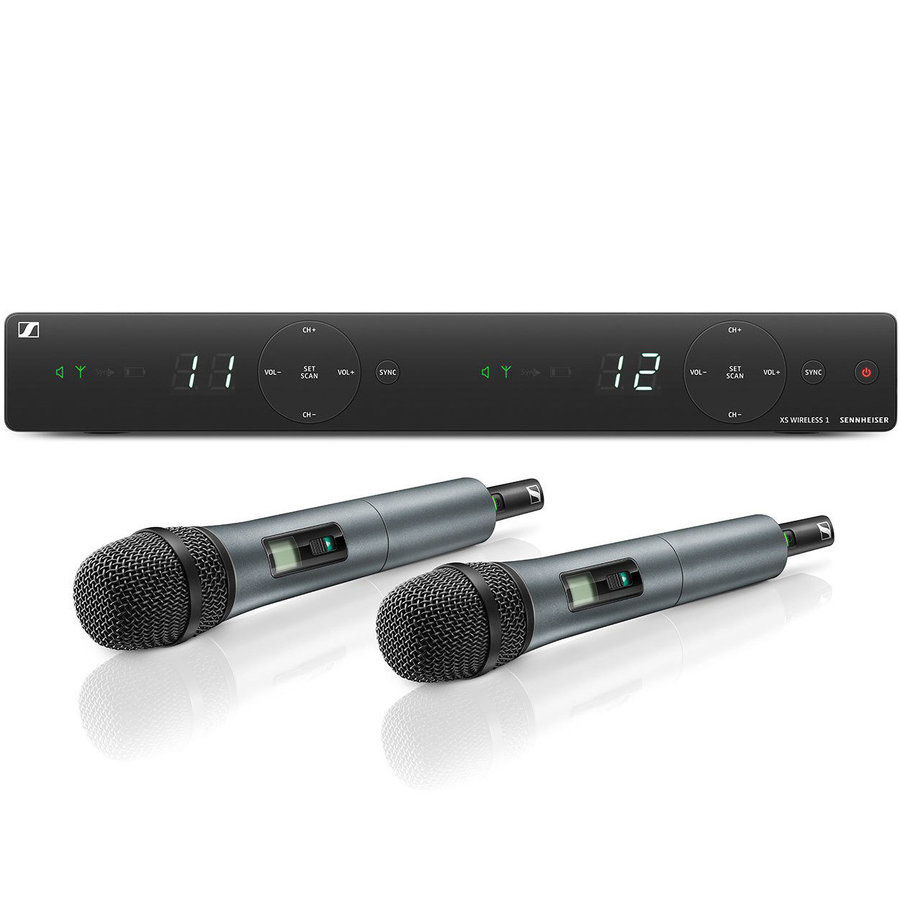 View larger image of Sennheiser XSW1-825 Dual Handheld Wireless Microphone System - A Band