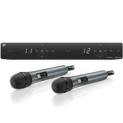 Sennheiser XSW1-825 Dual Handheld Wireless Microphone System - A Band