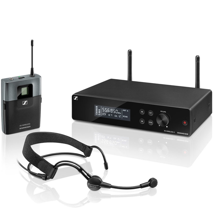 View larger image of Sennheiser XSW2-ME3 Wireless Headworn Microphone System - A Band