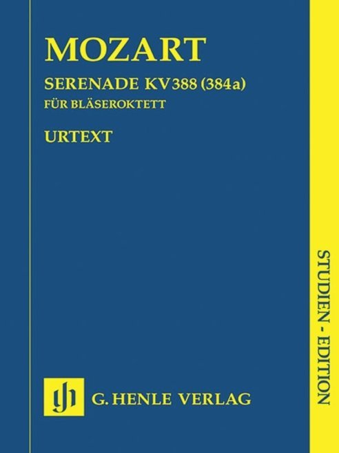 View larger image of Serenade in C minor K388 (384a) - Wind Octet Study Score