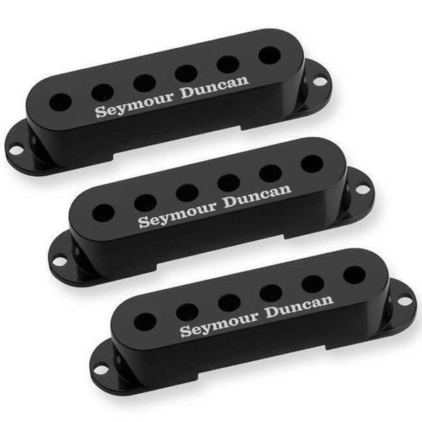 View larger image of Seymour Duncan Single-Coil Stratocaster Pickup Cover - Black, 3 Pack