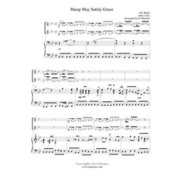 Sheep May Safely Graze,(Bach) - Clarinet Duet