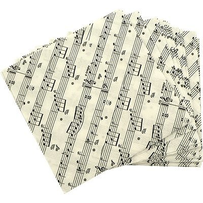 View larger image of Sheet Music Beverage Napkins - 20 Pack