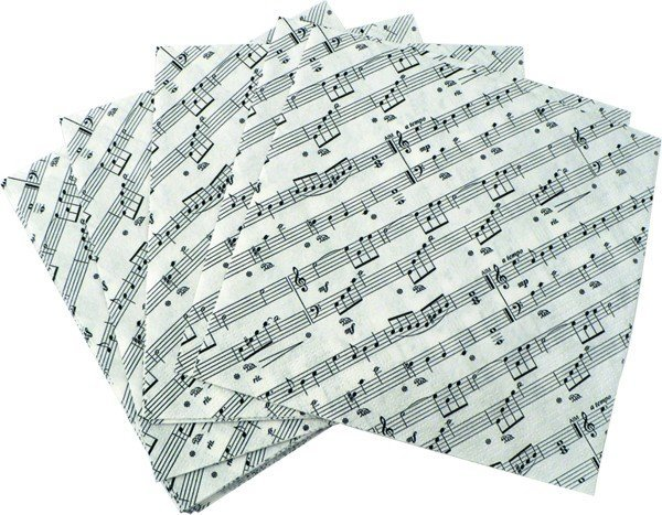 View larger image of Sheet Music Lunch Napkins - 20 Pack