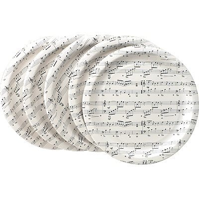 View larger image of Sheet Music Paper Plates - 16 Pack, 10