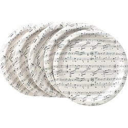 Sheet Music Paper Plates - 16 Pack, 10