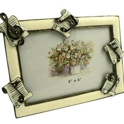 Sheet Music Picture Frame - Enamel, 6x4