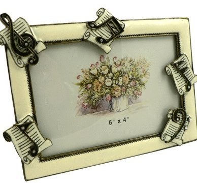 View larger image of Sheet Music Picture Frame - Enamel, 6x4