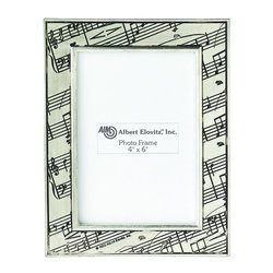 Sheet Music Picture Frame - Pewter