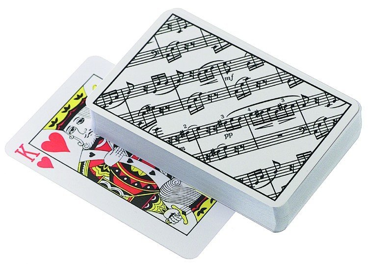 View larger image of Sheet Music Playing Cards