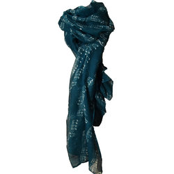 Sheet Music Print Scarf - Teal/Black