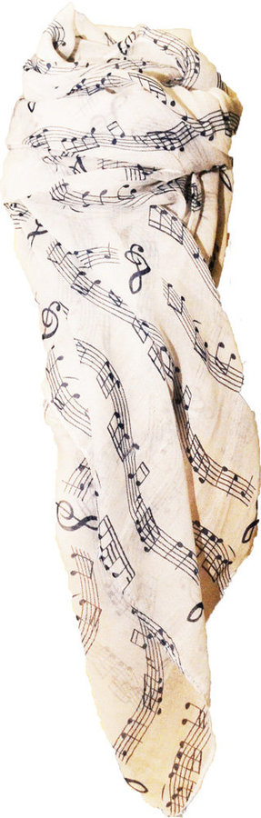 View larger image of Sheet Music Print Scarf - White/Blue