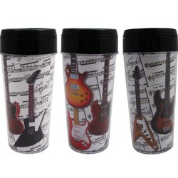 Sheet Music with Guitars Travel Tumbler - 16oz