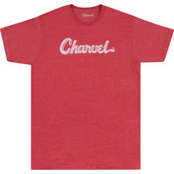 Charvel Toothpaste Logo T-Shirt - Heather Red, XL