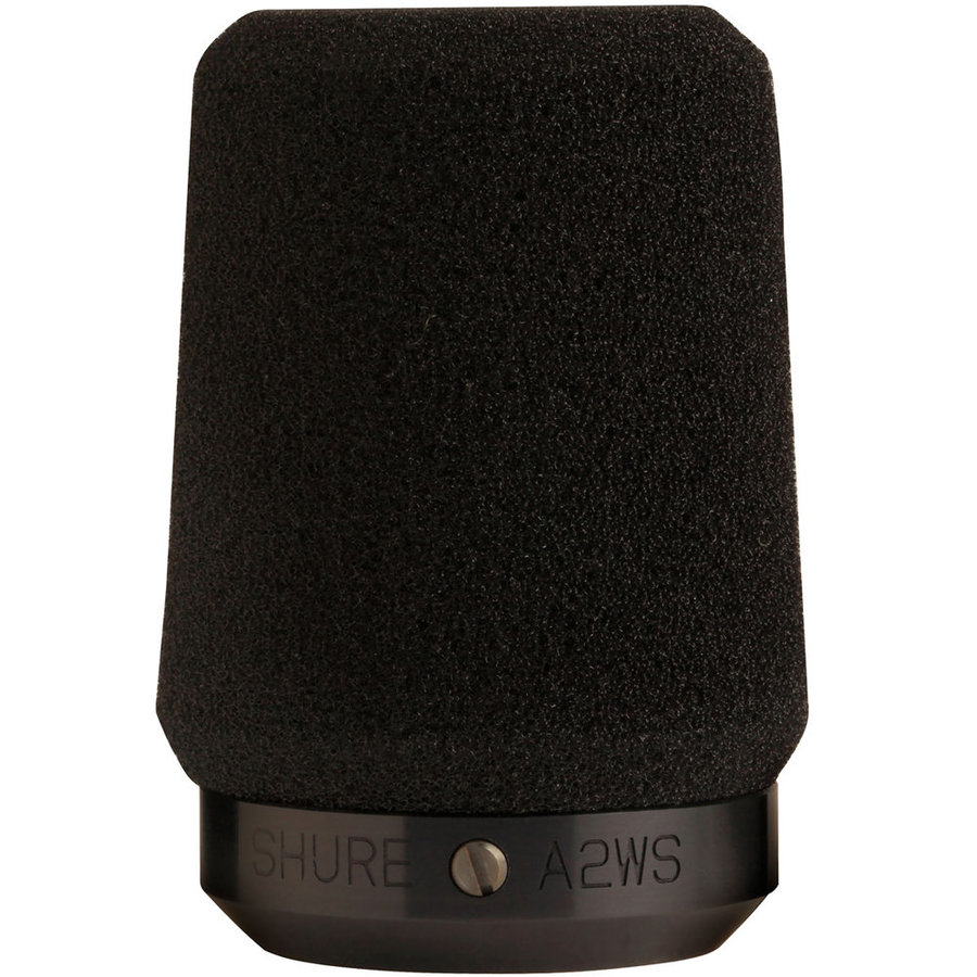 View larger image of Shure A2WS-BK Locking Microphone Windscreen - Black