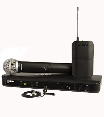 View larger image of Shure BLX1288/CVL Wireless Mic System - J10 Frequency