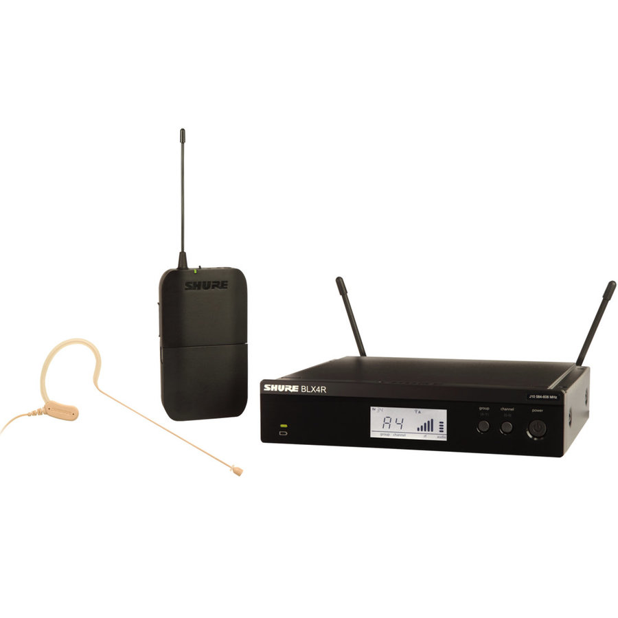 View larger image of Shure BLX14R/MX53 Wireless Headworn Microphone System - H9 Band