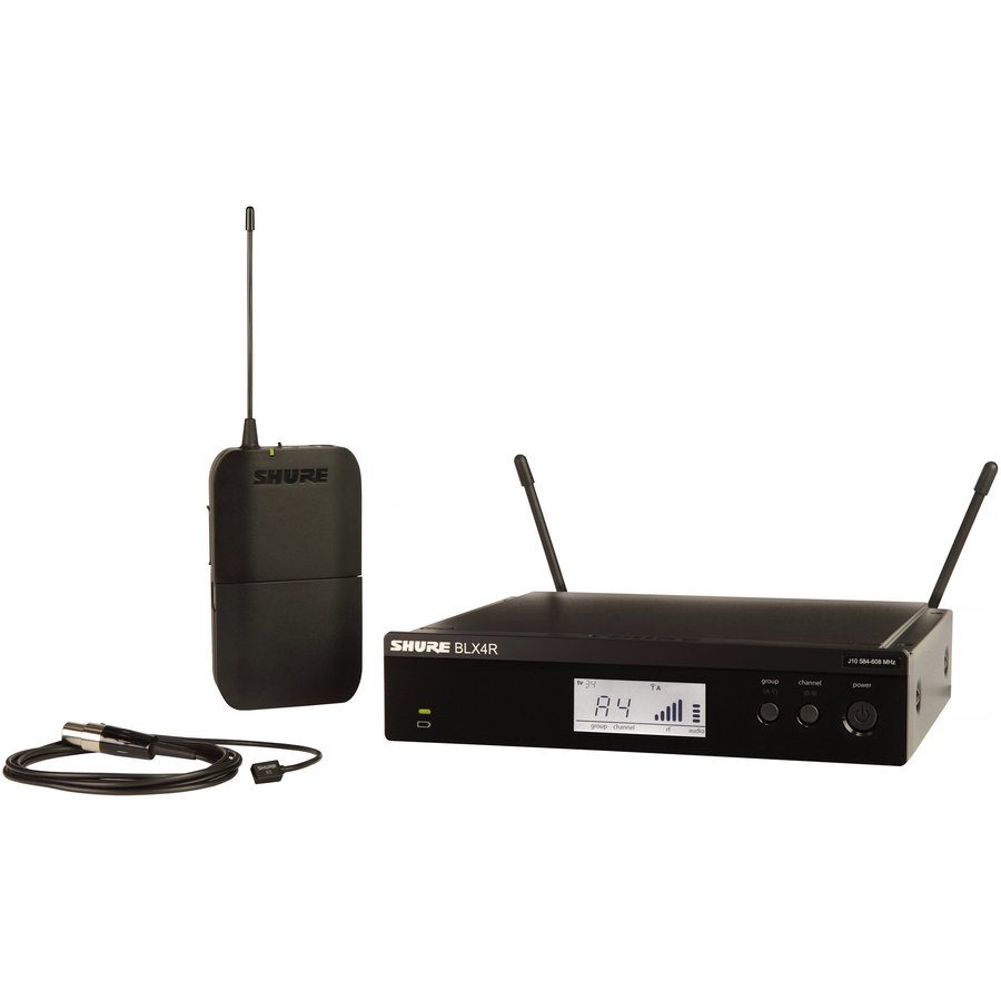 View larger image of Shure BLX14R/W93 Wireless Lavalier Microphone System - H10 Band