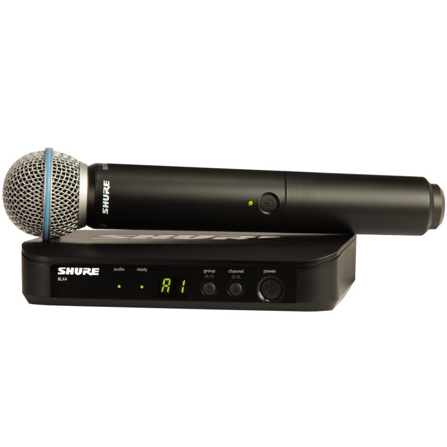 View larger image of Shure BLX24/B58 Wireless Handheld Microphone System - H10 Band