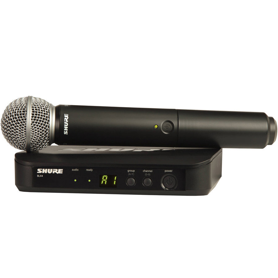 View larger image of Shure BLX24/SM58 Wireless Handheld Microphone System - H10 Band