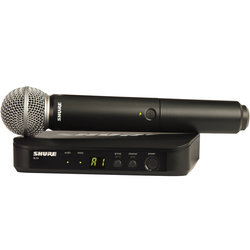 Shure BLX24/SM58 Wireless Handheld Microphone System - H10 Band