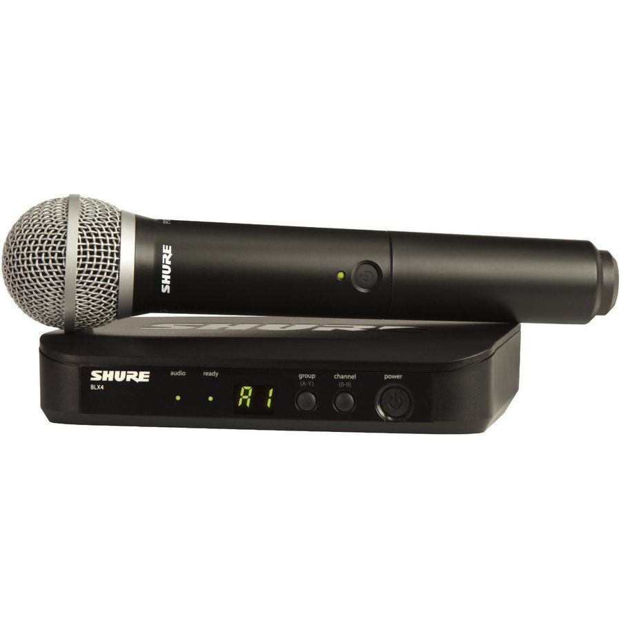 View larger image of Shure BLX24/SM58 Wireless Handheld Microphone System - H9 Band