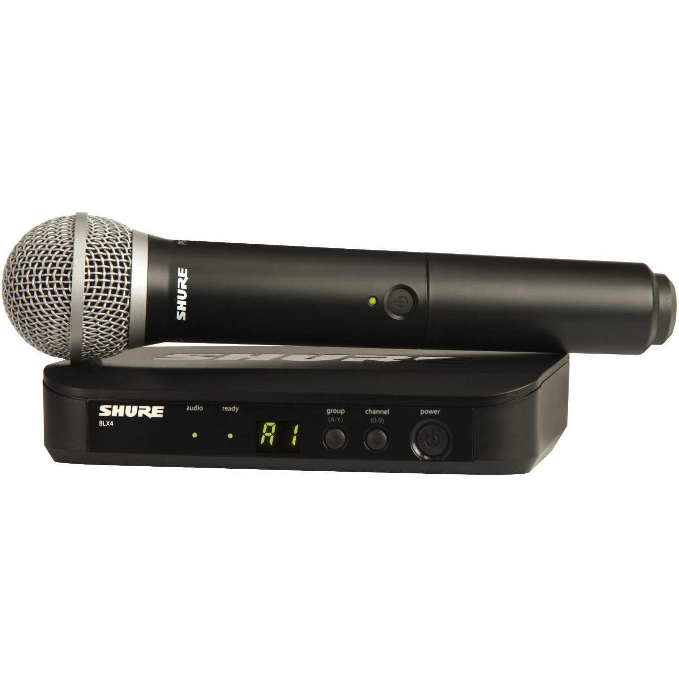 Receiver Sold Separately Shure BLX2//SM58 Wireless Handheld Microphone Transmitter with SM58 Capsule