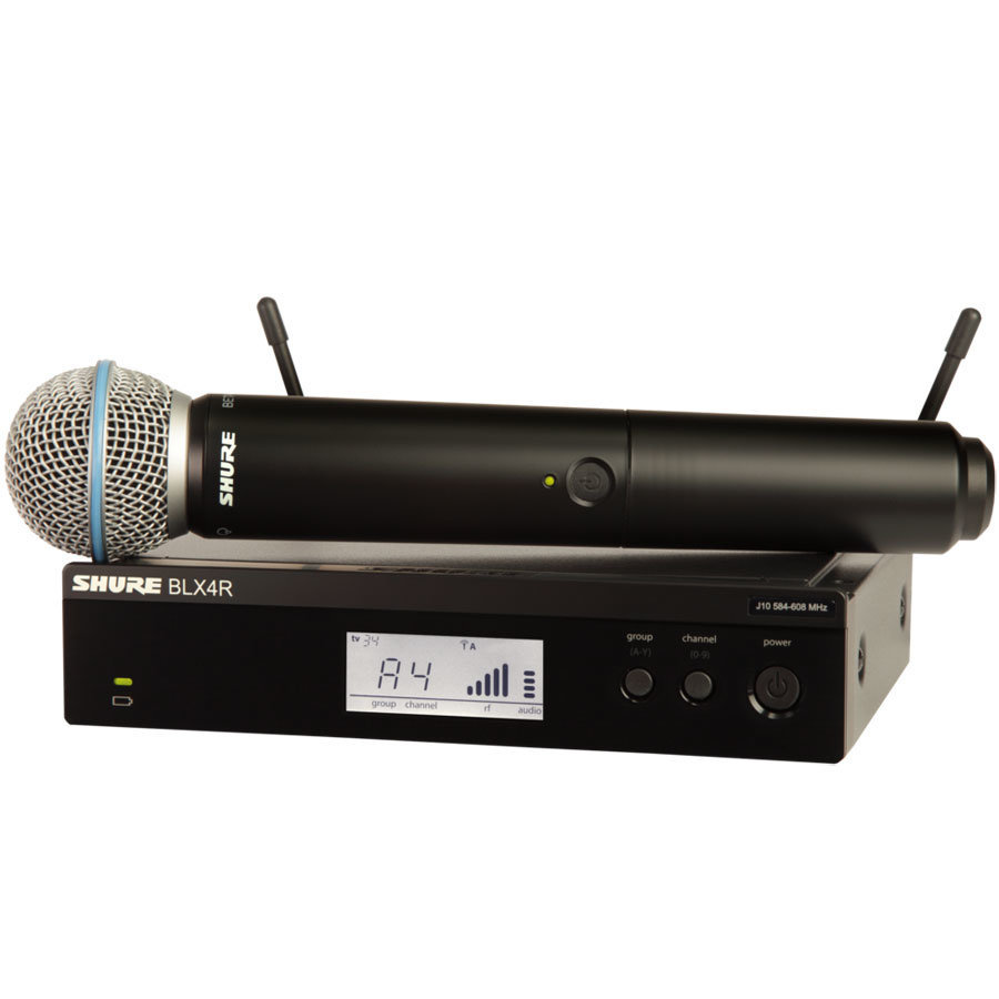 View larger image of Shure BLX24R/B58 Wireless Vocal Rack-Mount System - H10 Band