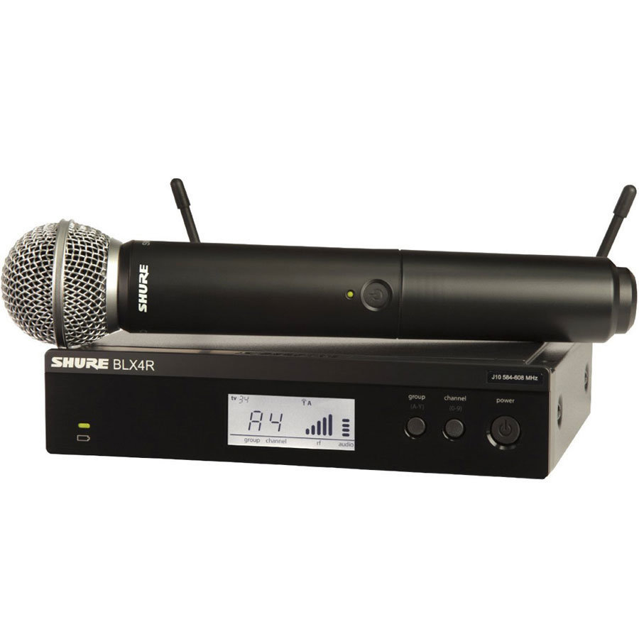 View larger image of Shure BLX24R/SM58 Wireless Handheld Microphone System - H10 Band