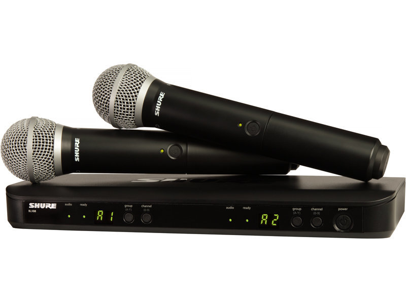 View larger image of Shure BLX288/PG58 Dual Channel Handheld Wireless System