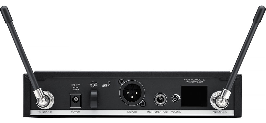 View larger image of Shure BLX4R Wireless Rack Mount Receiver - H10