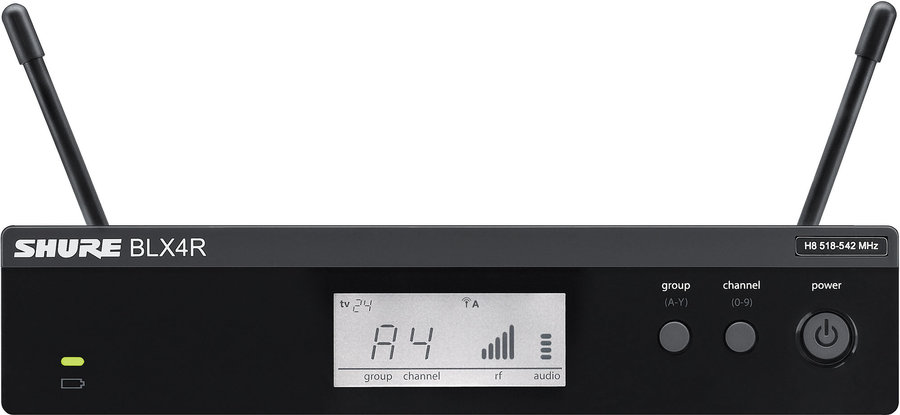 View larger image of Shure BLX4R Wireless Rack Mount Receiver - H9