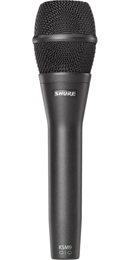 View larger image of Shure KSM9/CG Handheld Vocal Condenser Microphone - Charcoal Black