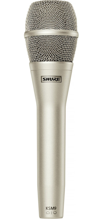 View larger image of Shure KSM9/SL Handheld Vocal Condenser Microphone - Champagne