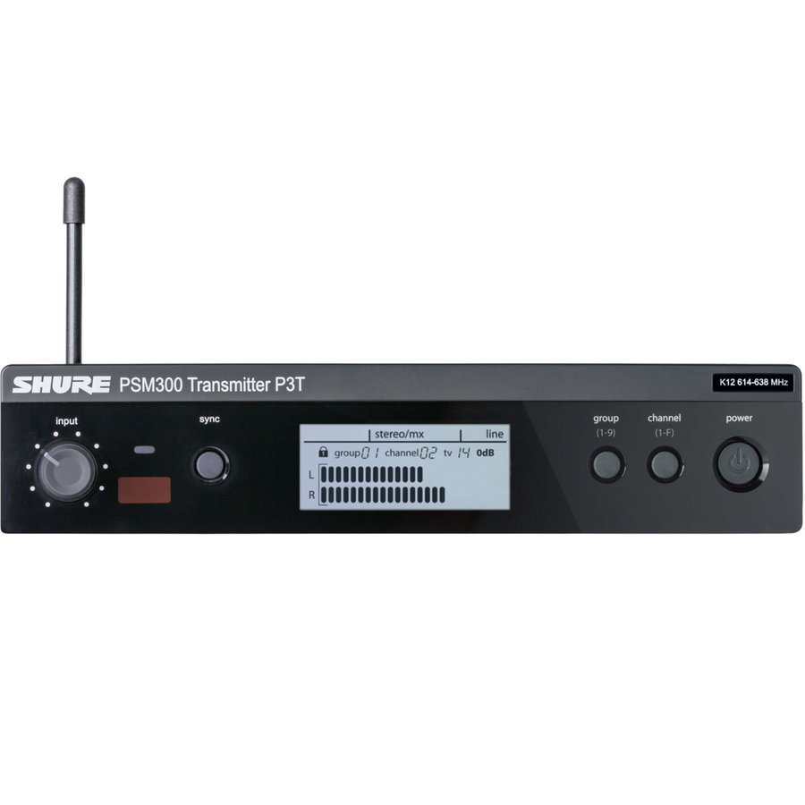 View larger image of Shure P3T Wireless Transmitter for PSM300 Systems - G20 Band