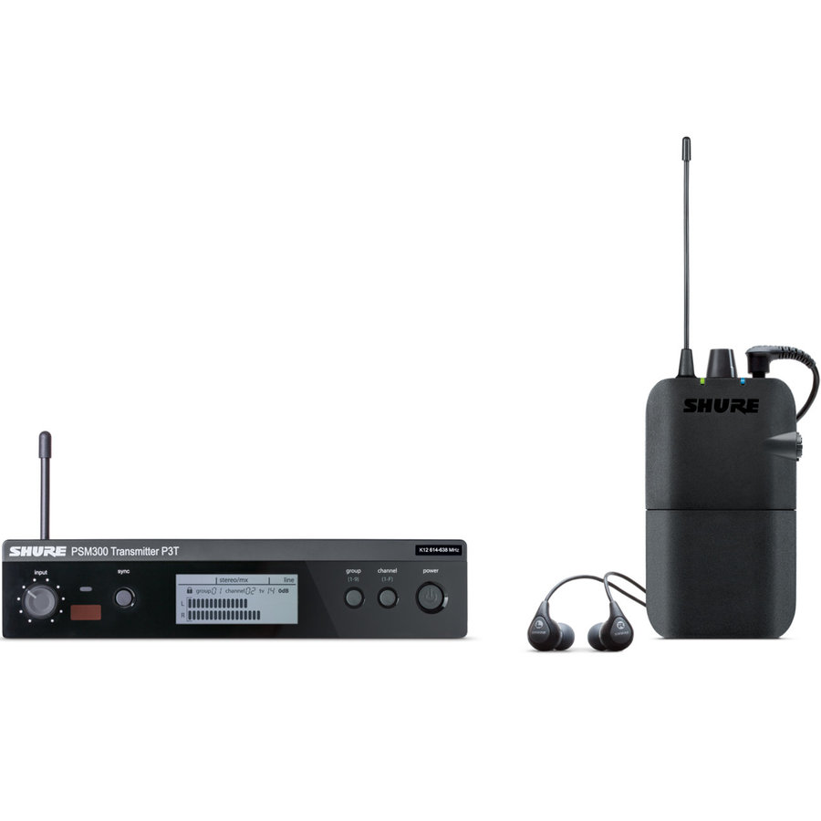View larger image of Shure P3TR112GR Personal In-Ear Monitor System with SE112 Earphones - G20 Band