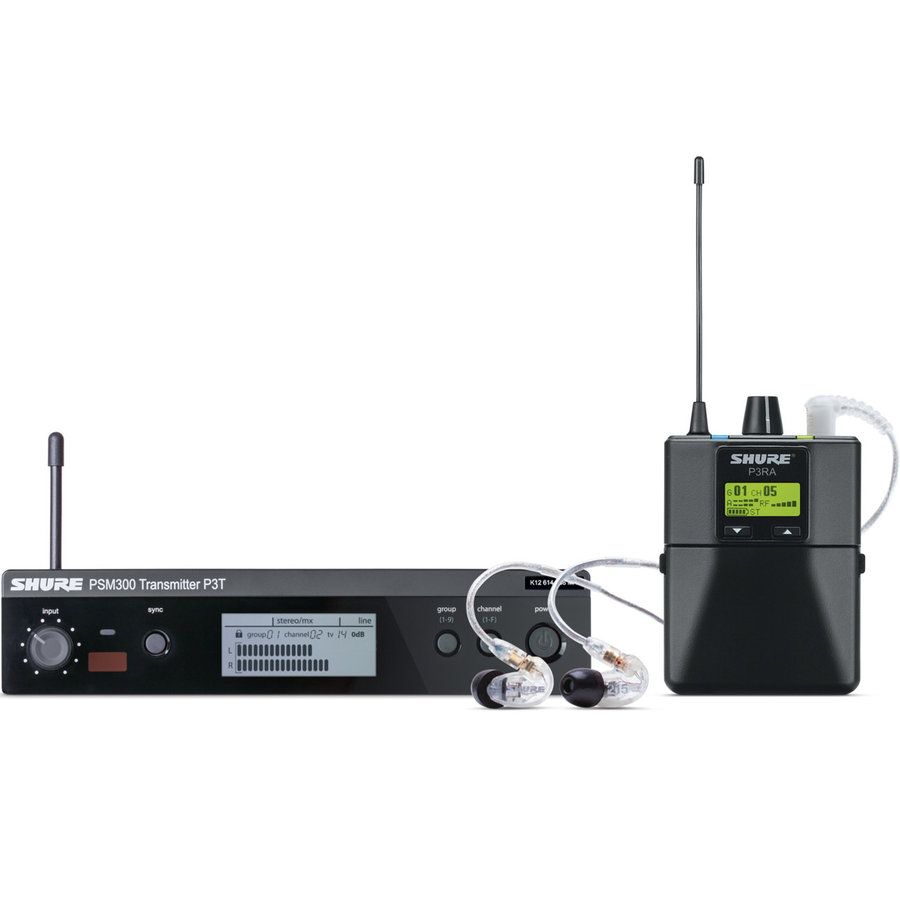 View larger image of Shure P3TRA215CL Wireless in-Ear Monitor System - G20 Band