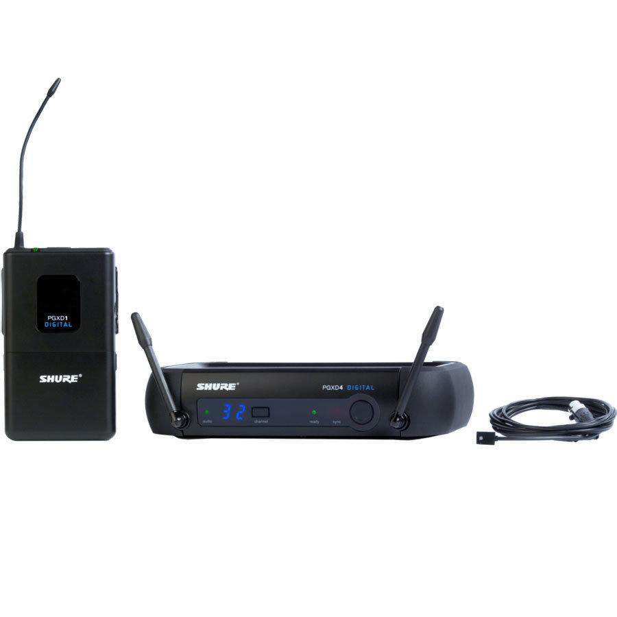 View larger image of Shure PGXD14/93 Wireless Lavalier Microphone System - X8 Band