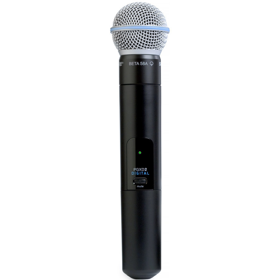 View larger image of Shure PGXD2/BETA58 Handheld Wireless Microphone Transmitter - X8 Frequency