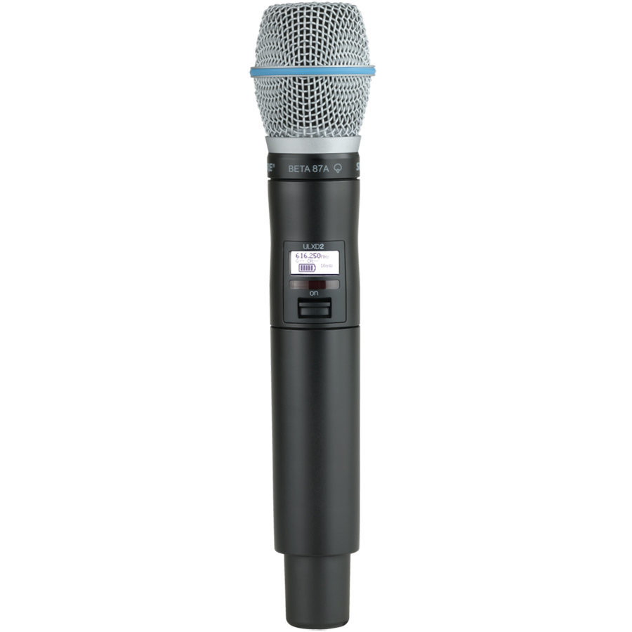 View larger image of Shure QLXD2-B87A-G50 Handheld Transmitter