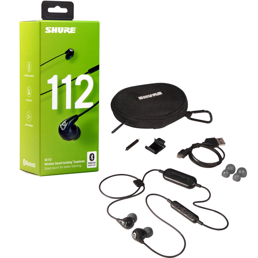 View larger image of Shure SE112 Wireless Sound Isolating Earphones with Bluetooth - Black